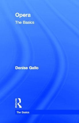 Opera: The Basics: 1st Edition (Hardback) book cover