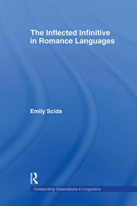 The Inflected Infinitive in Romance Languages (Hardback) book cover