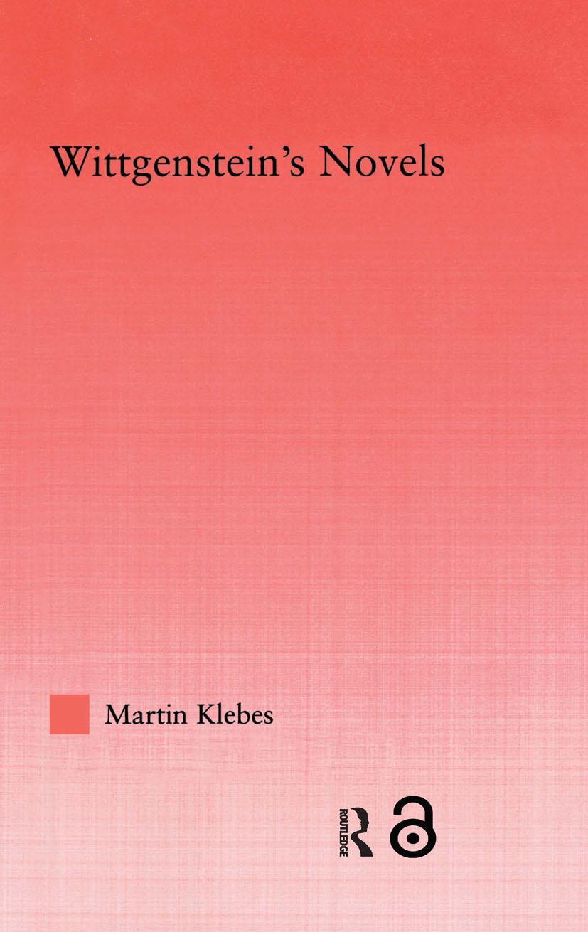 Wittgenstein's Novels book cover