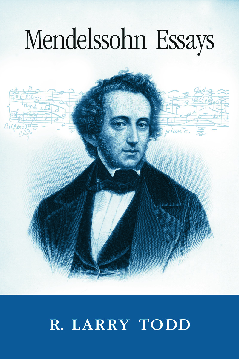 Mendelssohn Essays (Paperback) book cover