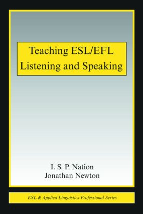 Teaching ESL/EFL Listening and Speaking: 1st Edition (e-Book) book cover