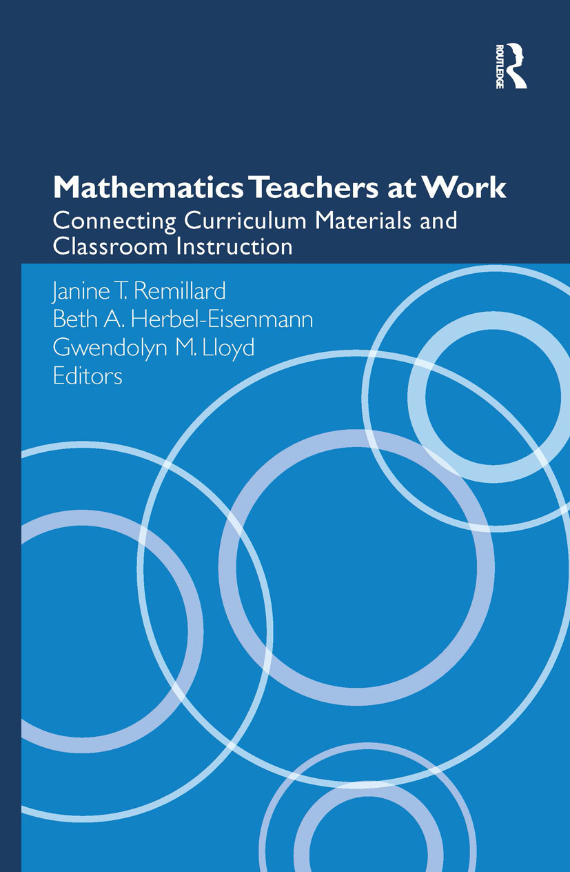 Mathematics Teachers at Work: Connecting Curriculum Materials and Classroom Instruction (Hardback) book cover