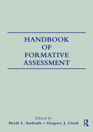 Handbook of Formative Assessment: 1st Edition (Paperback) book cover