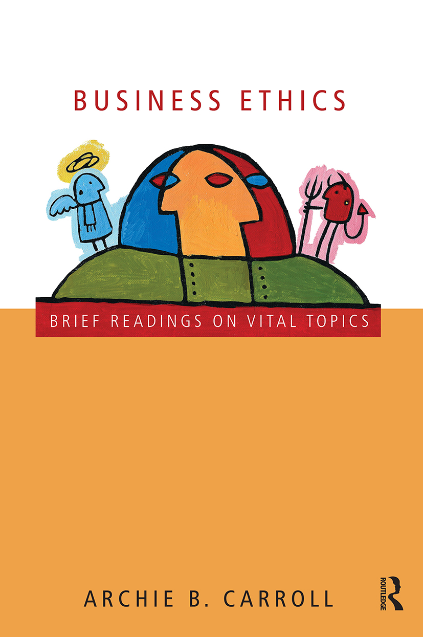 Business Ethics: Brief Readings on Vital Topics, 1st Edition (Paperback) book cover