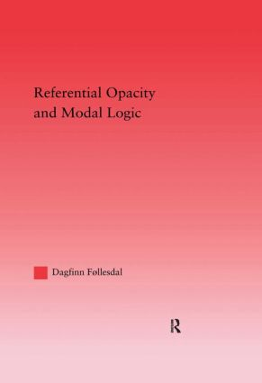 Referential Opacity and Modal Logic