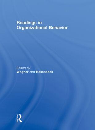 Readings in Organizational Behavior: 1st Edition (Hardback) book cover