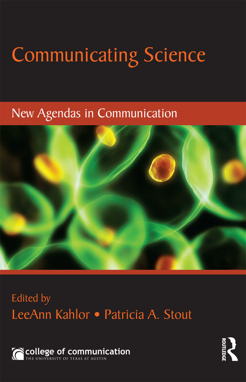 Communicating Science: New Agendas in Communication (Paperback) book cover