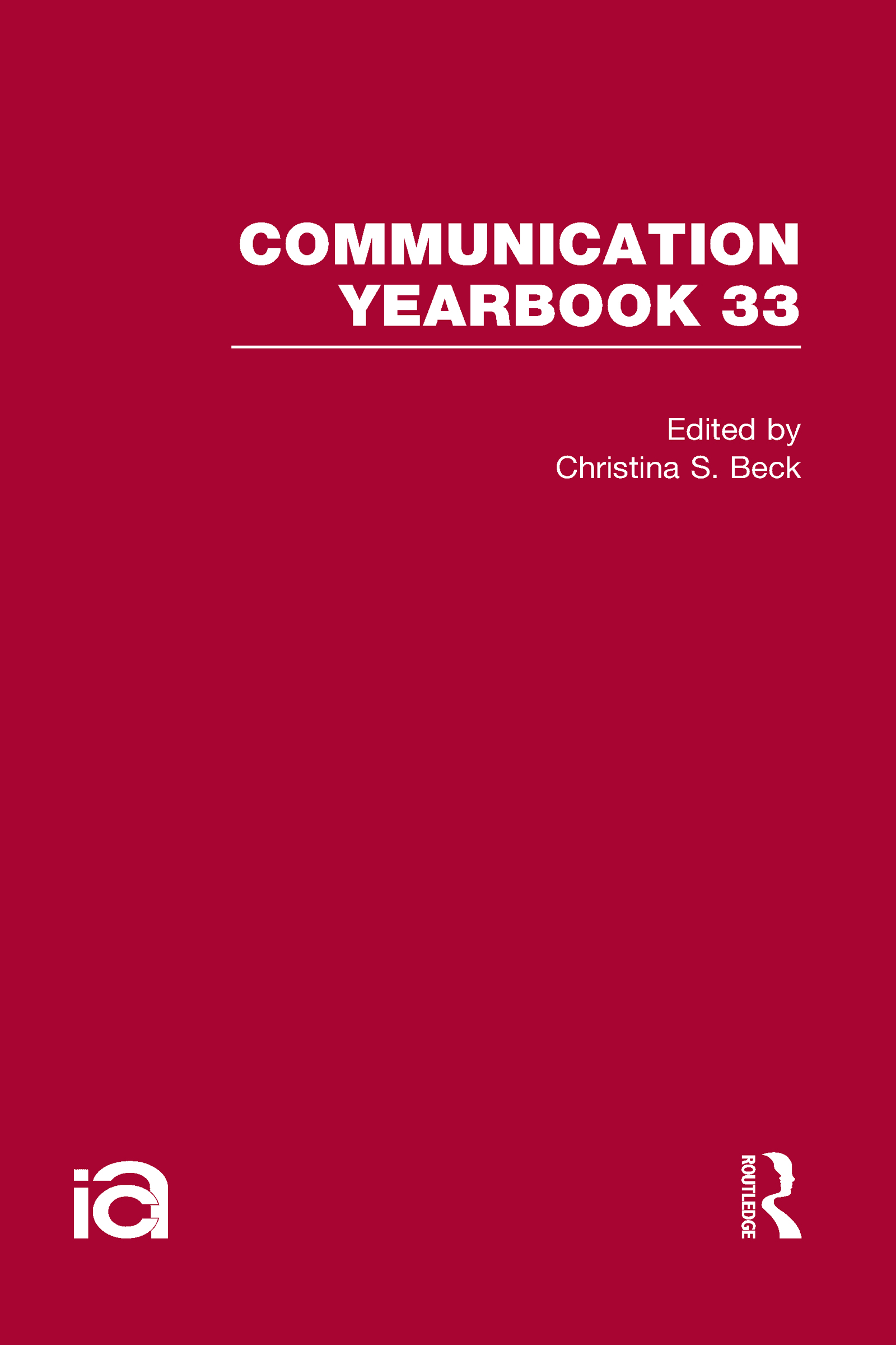 Communication Yearbook 33 (Hardback) book cover