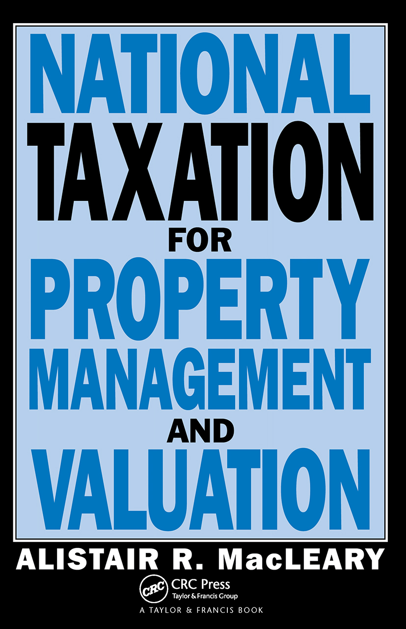 National Taxation for Property Management and Valuation (Paperback) book cover