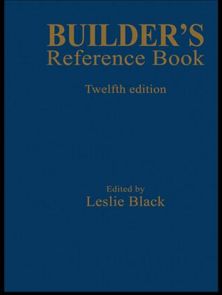 Builder's Reference Book: 12th Edition (Hardback) book cover