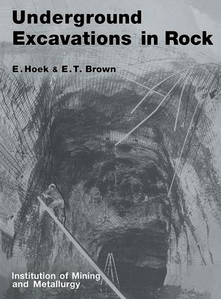 Underground Excavations in Rock: 1st Edition (Paperback) book cover