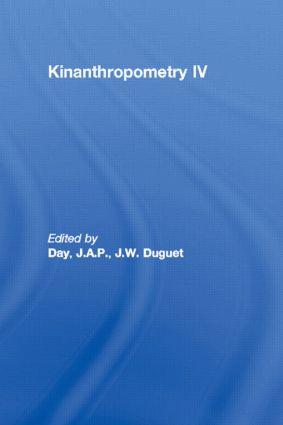 Kinanthropometry IV (Hardback) book cover