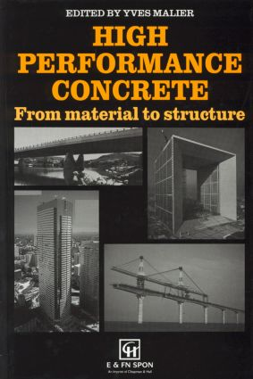 High Performance Concrete: From material to structure (Hardback) book cover