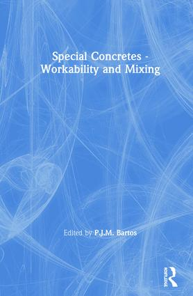 Special Concretes - Workability and Mixing: 1st Edition (Hardback) book cover