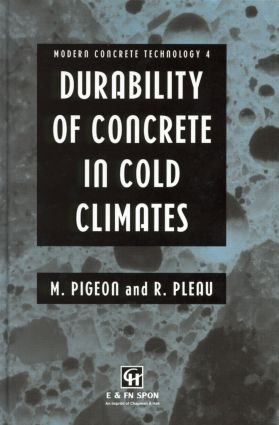 Durability of Concrete in Cold Climates book cover