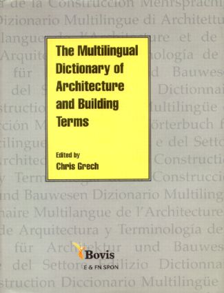 Multilingual Dictionary of Architecture and Building Terms (Hardback) book cover