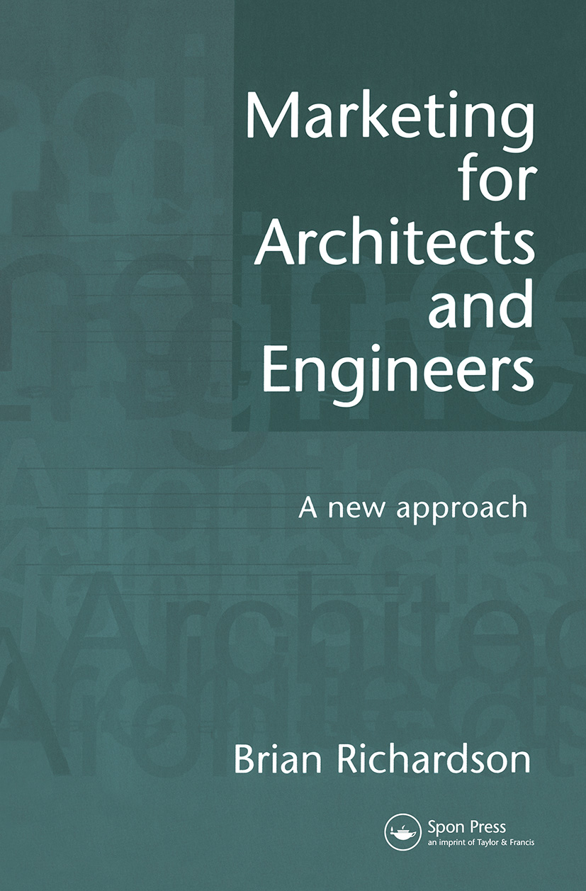 Marketing for Architects and Engineers: A new approach (Paperback) book cover
