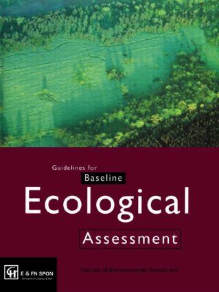 Guidelines for Baseline Ecological Assessment: 1st Edition (Hardback) book cover