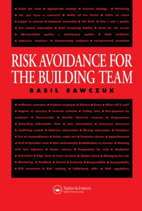 Risk Avoidance for the Building Team book cover