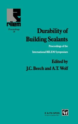 Durability of Building Sealants: 1st Edition (Hardback) book cover
