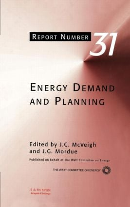 Energy Demand and Planning: 1st Edition (Hardback) book cover