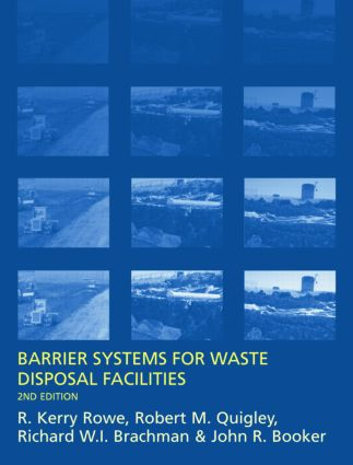 Barrier Systems for Waste Disposal Facilities: 2nd Edition (Hardback) book cover