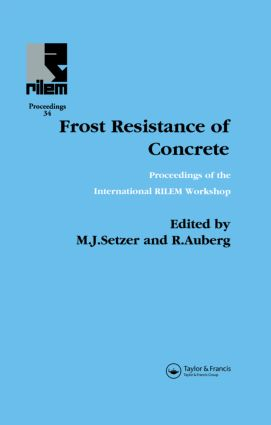 Frost Resistance of Concrete