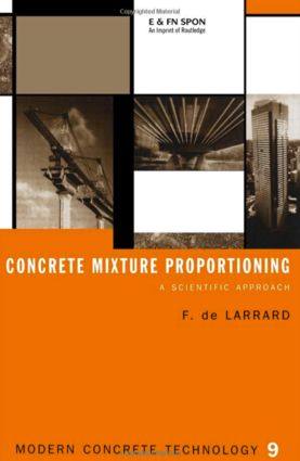 Concrete Mixture Proportioning: A Scientific Approach book cover