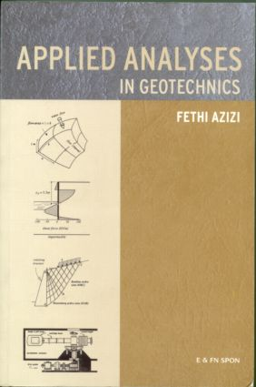 Applied Analyses in Geotechnics (Paperback) book cover