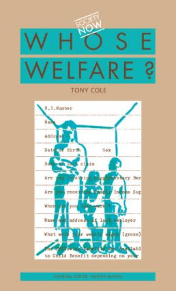 Whose Welfare (Paperback) book cover