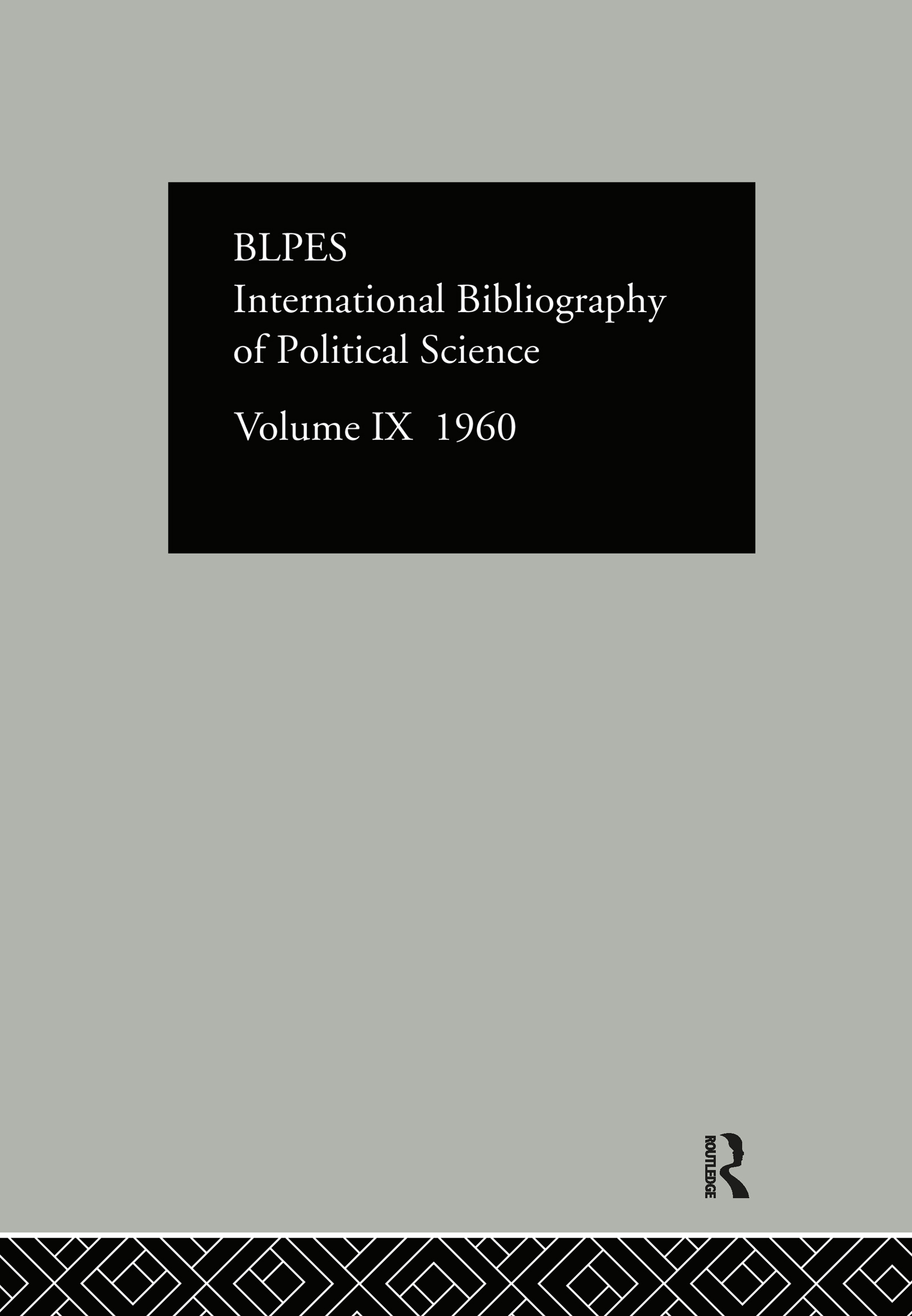 IBSS: Political Science: 1960 Volume 9: 1st Edition (Hardback) book cover