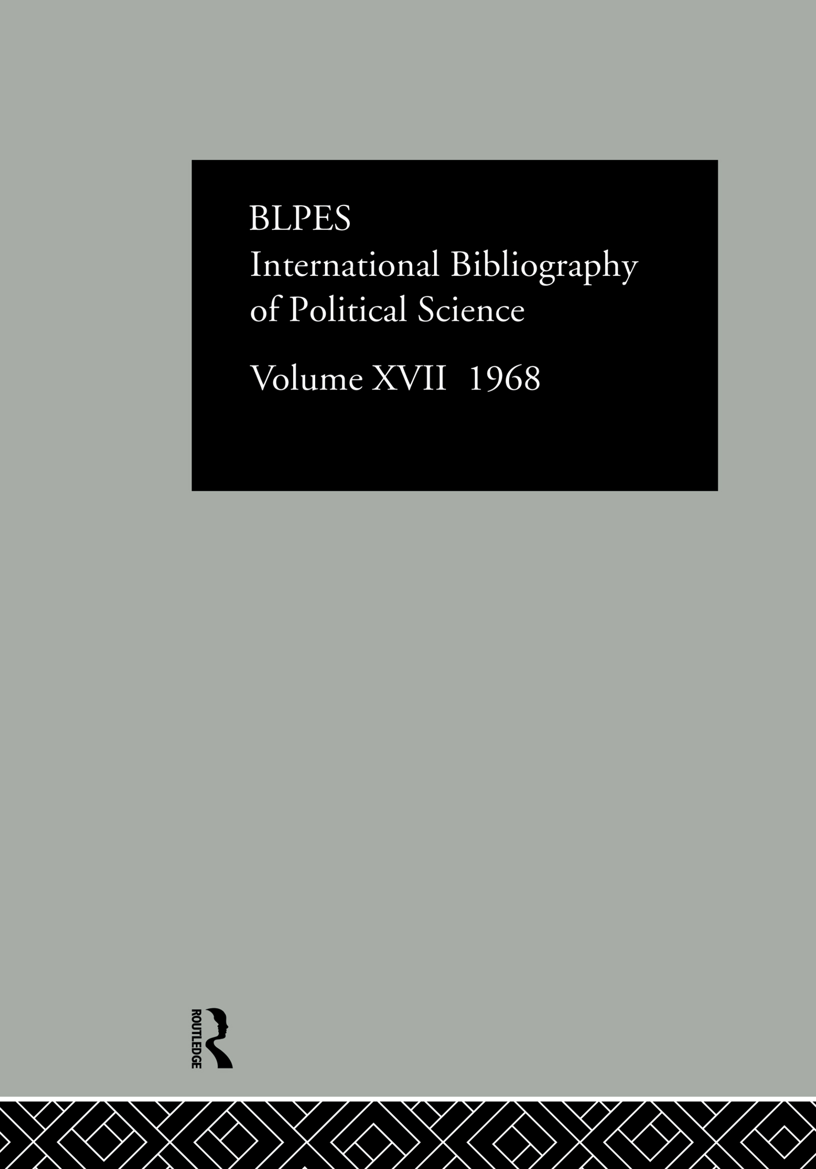 IBSS: Political Science: 1968 Volume 17: 1st Edition (Hardback) book cover
