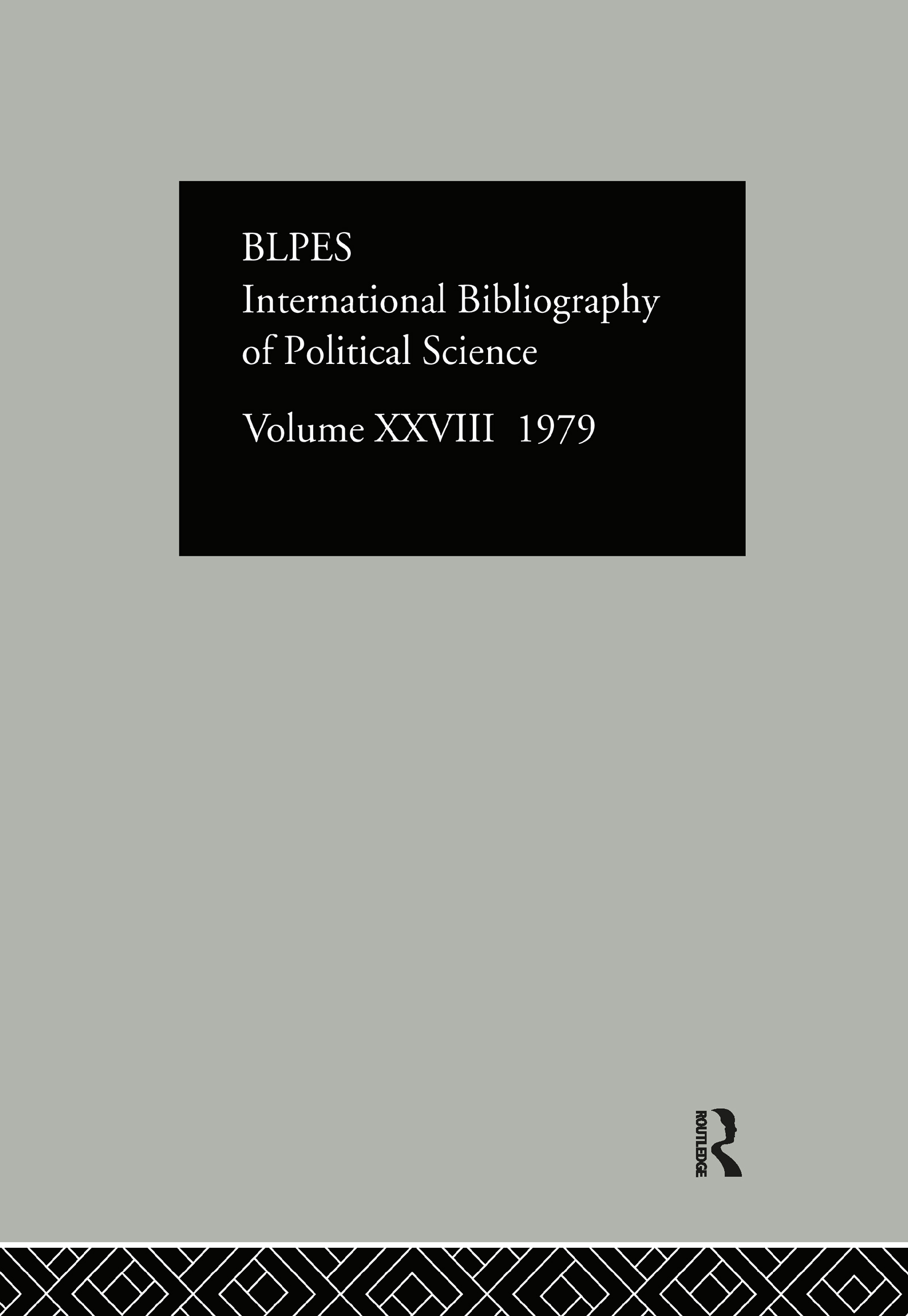 IBSS: Political Science: 1979 Volume 28: 1st Edition (Hardback) book cover