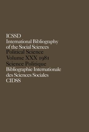IBSS: Political Science: 1981 Volume 30: 1st Edition (Hardback) book cover