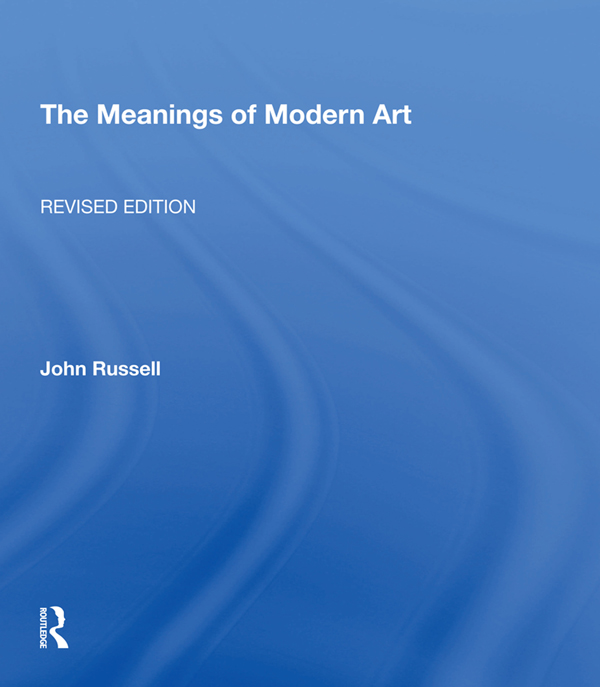 Meanings Of Modern Art, Revised book cover