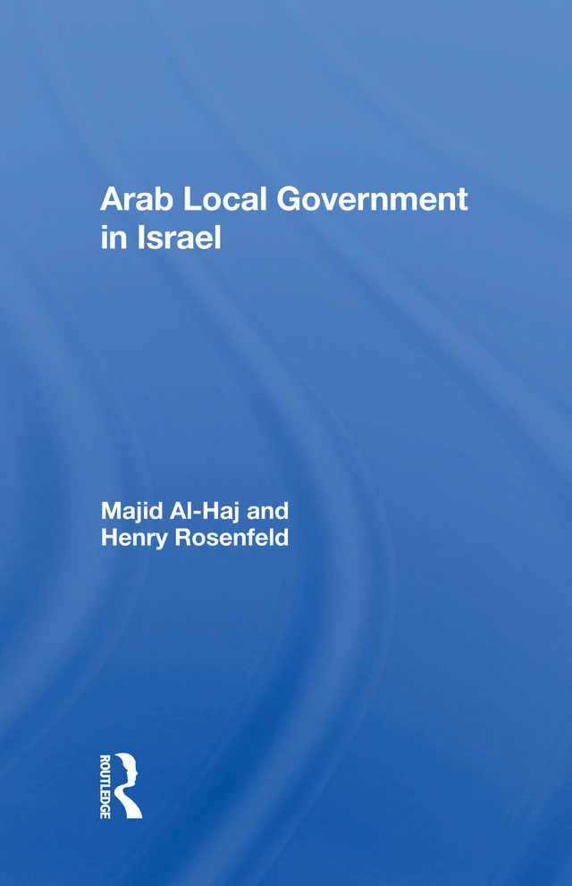 Arab Local Government In Israel book cover