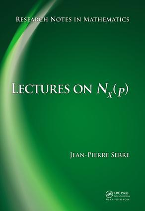 Lectures on N_X(p): 1st Edition (e-Book) book cover
