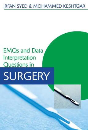EMQs and Data Interpretation Questions in Surgery: 1st Edition (e-Book) book cover