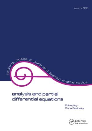 Analysis and Partial Differential Equations