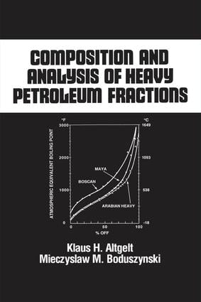 Composition and Analysis of Heavy Petroleum Fractions: 1st Edition (Hardback) book cover