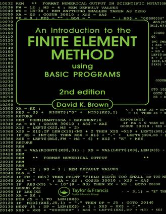 Introduction to the Finite Element Method using BASIC Programs