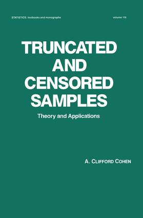 Truncated and Censored Samples: Theory and Applications, 1st Edition (Hardback) book cover