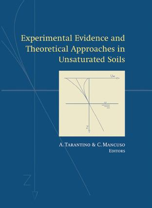 Experimental Evidence and Theoretical Approaches in Unsaturated Soils: 1st Edition (Hardback) book cover