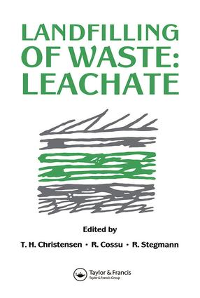 Landfilling of Waste: Leachate, 1st Edition (Hardback) book cover