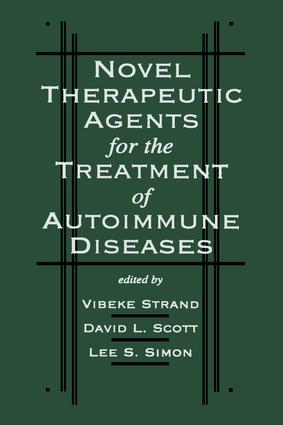 Novel Therapeutic Agents for the Treatment of Autoimmune Diseases: 1st Edition (Hardback) book cover