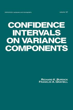 Confidence Intervals on Variance Components: 1st Edition (e-Book) book cover