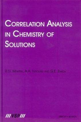 Correlation Analysis in Chemistry of Solutions: 1st Edition (Hardback) book cover
