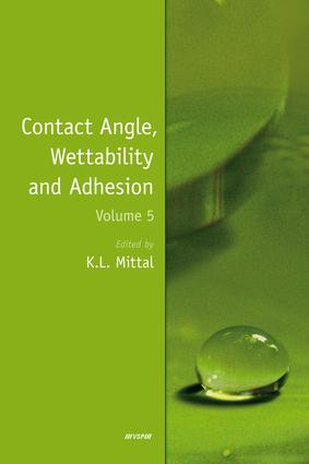 Contact Angle, Wettability and Adhesion, Volume 5: 1st Edition (Hardback) book cover