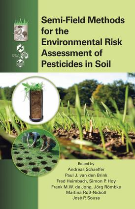 Semi-Field Methods for the Environmental Risk Assessment of Pesticides in Soil: 1st Edition (e-Book) book cover