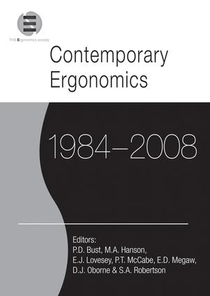 Contemporary Ergonomics 1984-2008